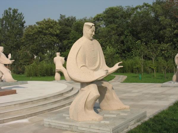 """陈家沟太极拳博物馆前的""""十三式""""雕塑-国学研究-云南"""